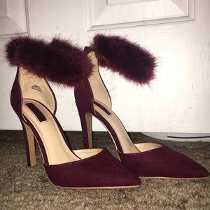 Fuzzy Ankle Heels